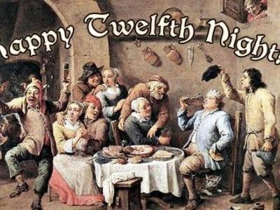happy Twelfth Night scene
