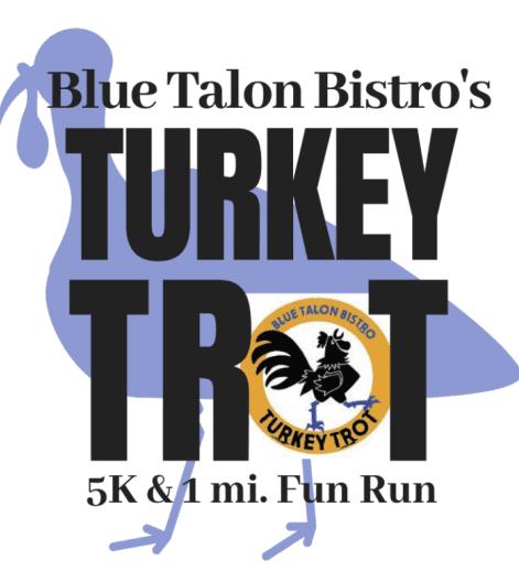 Blue Talon Bistro's Turket Trot logo